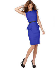XOXO Juniors Dress, Cap Sleeve Fitted Peplum Sheath