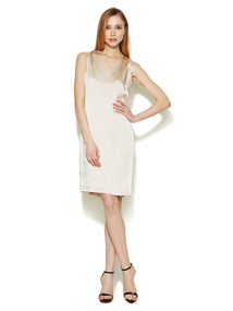 Labella V-Neck Satin Dress