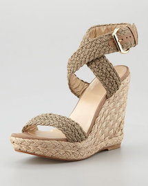Stuart Weitzman Alex Crochet Wedge Sandal