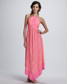 Alice &amp; Trixie Lara Printed Halter Maxi Dress