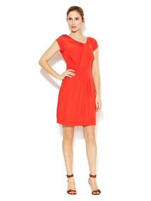 Perpetua Pleated Panel Dress