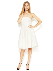 Katelyn Textured Cotton Strapless Dress
