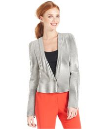 Nine West Jacket, Shawl-Collar Striped Blazer