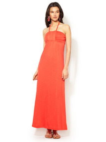 Bandeau Halter Maxi Dress