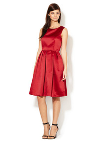 Cressida Satin Pleated Dress