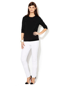 Stitch Yoke Stretch Knit Pant