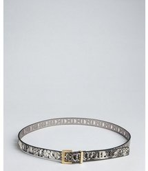 Calvin Klein python printed faux-leather laser-cut belt