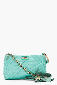 LANVIN Seafoam green quilted Happy Pocket bag