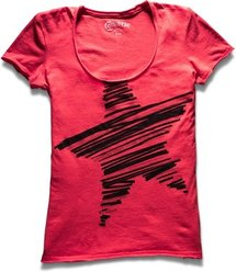 Women's Stripe Star Scoop Tee