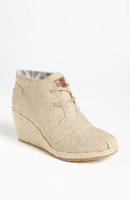 TOMS &#x27;Desert&#x27; Burlap Wedge Bootie