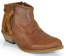 Steve Madden - Noww - Cognac Leather Ankle Bootie