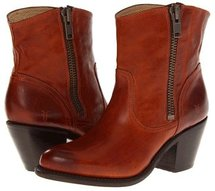 Frye - Leslie Zip Bootie (Whiskey Vintage Veg Tan) - Footwear