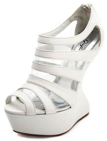 Clear Caged Heel-Less Wedge Bootie