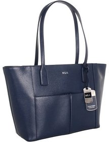 LAUREN Ralph Lauren - Newbury Pocket Shopper (Navy) - Bags and Luggage
