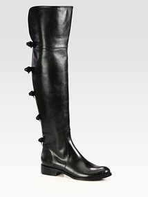 Valentino Multi Bow Over-The-Knee Boots