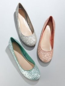 Glittery Ballet Flats