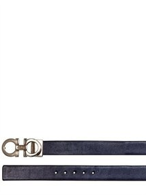 2.5cm Reversible Patent Leather Belt