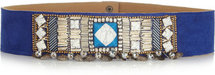 Matthew Williamson Embellished suede belt