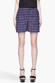 MARNI Bright purple and turquoise patterned Shorts