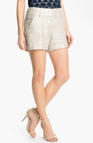 Vince Camuto Foiled Cuffed Shorts