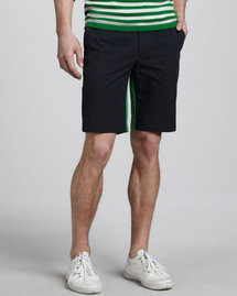 Michael Kors Colorblock Stretch-Cotton Shorts