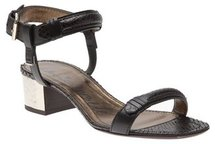 Lanvin Low Metal Heel Sandal