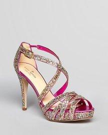 kate spade new york Glitter Platform Sandals - Ginger High Heel