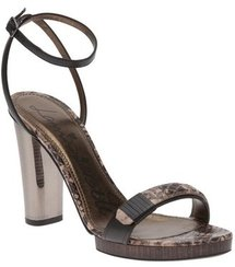 Lanvin Metal Heel Sandal