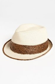 BP. Two Tone Straw Fedora