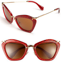 Miu Miu Glitter Infused Cat&#x27;s Eye Sunglasses