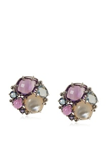 Anzie Amethyst Multi-Stone Bouquet Earrings at MYHABIT