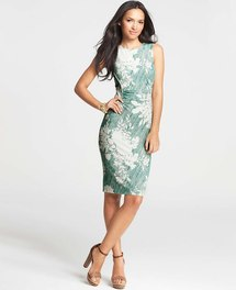 Ann Taylor - AT New Arrivals - Pixel Flower Print Sheath Dress
