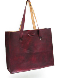 Leather Beach Bag Tote - Handmade in America / Cicada Leather Company