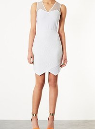 Topshop Lace Appliqu Dress