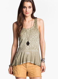 Free People Rally Perforated Peplum Tank 