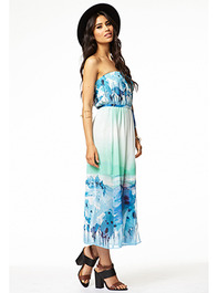 Watercolor Midi Dress