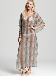 Echo Long Multi Dot Caftan Cover Up