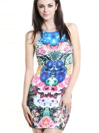 Floral Reflection Tankini Dress MULTI