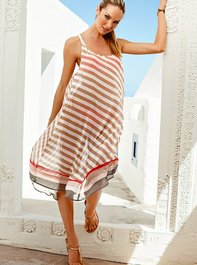 Asymmetrical Stripe Cover-Up