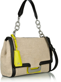 Harper Charlotte canvas and leather shoulder bag by Diane von Furstenberg