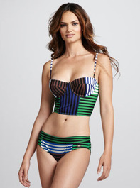 Camilla & Marc Striped Abstract Two-Piece - Neiman Marcus