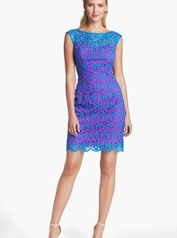 Lilly Pulitzer® Selina Embroidered Lace Sheath Dress
