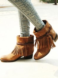 Free People Lonesome Fringe Ankle Boot