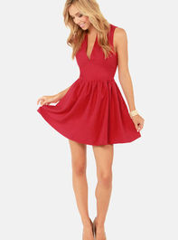 Cute Red Skater Dress