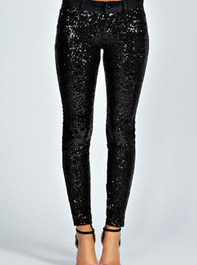 Aveline Sequin Front Treggings