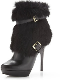 MICHAEL Michael Kors Enna Fur/Leather Bootie