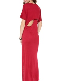 Heather Hidden Racer Maxi Dress
