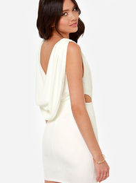 Sexy Ivory Dress - Backless Dress - Cutout Dress - $46.00