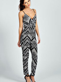 Ella Wrap Over Front Mono Cami Jumpsuit