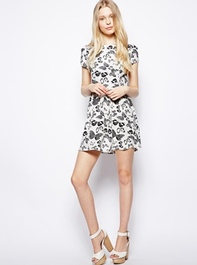 Yumi Skater Dress in Butterfly Print